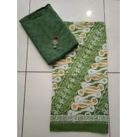 Kain BATIK Pastel Katun Dobby polos SET bahan kemeja, rok, blouse