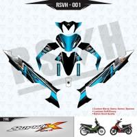 Sticker Motor Supra X 125 R - Sky Blue RSVH 001