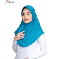 Nisrina Fashion Muslim Bergo Instan Polos Gadis Panita - Putih