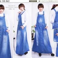 Dress Baju Rok Kodok Overall Jumper Panjang Jeans Ripped Jumbo BigSize
