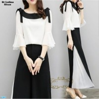St Lulina/Setelan Baju Celana Wanita Casual Kantor Kerja/Baju Korea