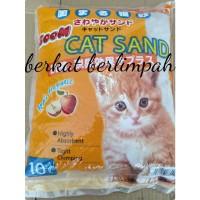 Pasir Kucing Cat Sand Kwalitas Import Apple Fragrance 10 ltr
