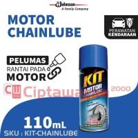 Kit Motor Chain Lube Aerosol 110mL - Pelumas Rantai motor / sepeda