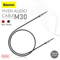 Kabel Aux Audio Baseus Cable Jack 3.5mm Male to Male Yiven Aux Audio - 50cm Black