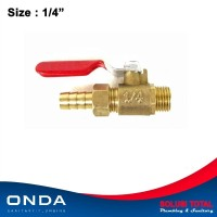 Stop Kran kompresor ONDA 1/4 BALL VALVE compressor 1/4 inch kuningan