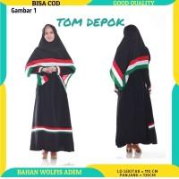 (GAMIS SAJA) Baju Gamis Muslim Wanita Syari Palestina - Tom