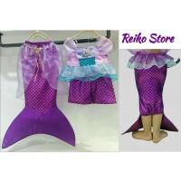 Baju Renang MERMAID Dress Kostum Putri Duyung Anak