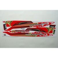 Stiker striping motor yamaha mio Sporty variasi amore merah