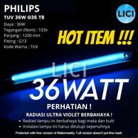 ORIGINAL LAMPU UV PHILIPS TUV 36W G36 T8 TL UV Ultrafiolet C UVC