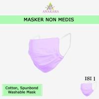 Anakara Masker Non Medis Armadillo Lavender Bisa Dicuci - Isi 1