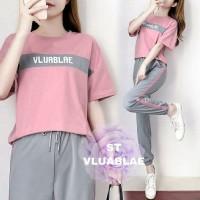 z6 - St setelan baju celana panjang cewek wanita import Korean