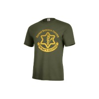 Kaos T-Shirt Motif Tulisan Graphic israel Defense Forces idf Warna Hij