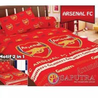 Set Bedcover Arsenal FC 120x200 - Bedcover Single - Bad cover motif