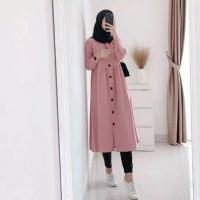 Baju Muslim Wanita Tunik Dzuvia Kancing Hidup LD100 PJ94
