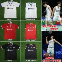 Jersey baju badminton yonex All England grade ori import