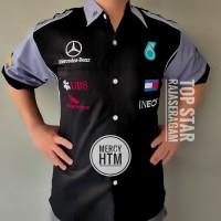 Baju Otomotif Mercedes, Seragam Komunitas Moto GP, Kemeja Bordir F1