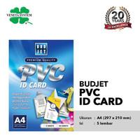 Kertas Budjet PVC Bahan ID Card Instan A4 isi 5 Lembar