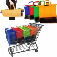 PAKET 4 PCS Tas Supermarket Shopping Trolley Bag Tas Belanja LipaT