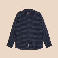 Kemeja Flanel Lengan Panjang Monochrome LS Navy Track Shirt