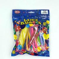 Balon Latex Cacing / Pentil / Magic Panjang + Pompa Balon Tangan NCL