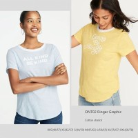 OLD NAVY 02 Ringer Tee Baju Atasan Kaos Wanita Branded
