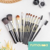 RUMAUMA 12 Pcs Brush Makeup Set Kuas Foundation Contour Peralatan Unik