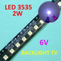 Led 3535 6V 2W Cold White Backlight TV SMD Lampu Putih Terang