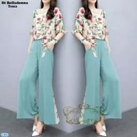 Baju Setelan Wanita Atasan & Celana Kulot -st belladonna