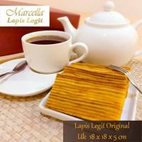 Kue Lapis Marcella Lapis Legit Original Almond Size 18x18x5cm
