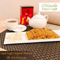 Kue Lapis Marcella Lapis Legit Original Almond Size 16x16x5cm
