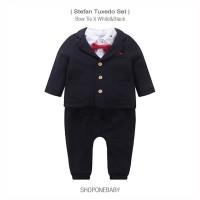Shirt Tuxedo BowTie Baby Set Party Hem Bayi Baju Dasi Boy Pesta STEFAN - 66