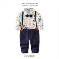 Shirt Suspender BowTie Baby Set Party Bayi Baju Dasi Boy Pesta DARIO - 70