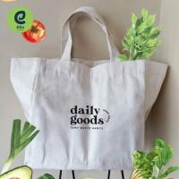 Tas Belanja Sekat - Grocery Bag Kanvas - Tote Bag Kanvas