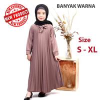 Baju Gamis Anak Perempuan Muslim Syar'i Murah -Pakaian Dress Plisket C