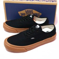Sepatu Vans Authentic Hitam Gum Vans premium Navy Gum