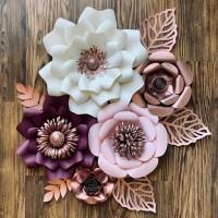 Paper Flower Backdrop 01
