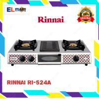 Kompor Gas RINNAI 2 Tungku + grill pemanggang RI 524A - 524 A - RI524A
