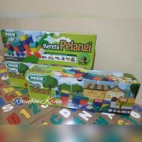 Mainan Edukatif - mainan balok kayu - Kereta Pelangi - Rainbow train