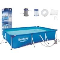 kolam renang anak jumbo bestway besar kotak 56411 portabel plastik