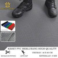 Keset Karpet PVC Anti Slip Kamar Mandi Rol tebal 6mm 40X60cm