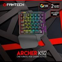 Keyboard Gaming Fantech Archer K512 One Hand Keyboard Fantech K512 RGB
