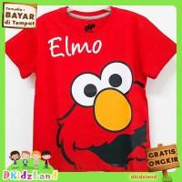 Baju/Kaos Anak Motif Elmo Red 1 - 10 Tahun - Merah, 3-4 tahun