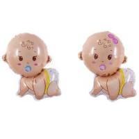Balon foil baby nipple / balon bayi merangkak / baby shower