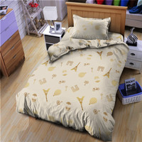 Bed Cover Only Single Triomphe Kintakun D'luxe Gold Abu 160 x 240