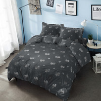 Bed Cover Only King Dandelion Kintakun D'luxe Gold Hitam 230 x 240