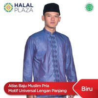 Atlas Baju Muslim Pria Motif Universal Lengan Panjang - Biru