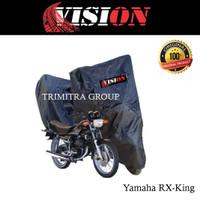 Sarung Motor Matic / Cover Penutup Tutup Motor Rx KIng Hitam Vision