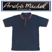 Kaos Kerah Polo Shirt Lengan Pendek Andre Michel 3018.4 Biru Tua