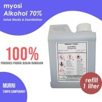 Myosi Alkohol Murni 70% - 1 L - Alkohol 70 Persen - Alkohol Pembersih
