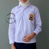 Seragam SMP Panjang Perempuan Sablon Bahan TC